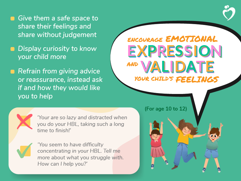 Encourage Emotional Expression - Age 10 to 12