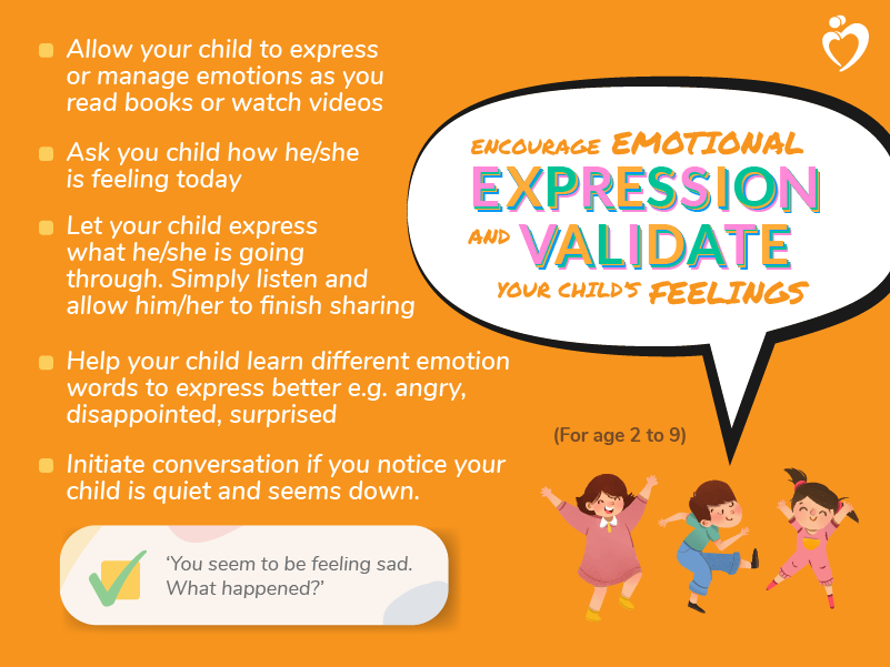 Encourage Emotional Expression - Age 2 to 9